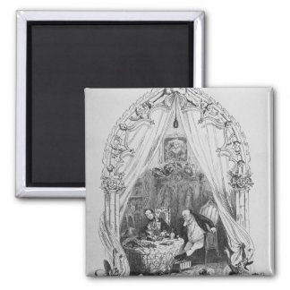 Illustration `The Pickwick Papers' by Charles Square Magnet