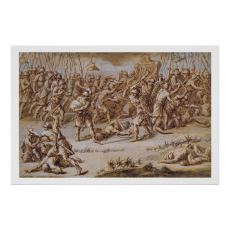 Illustration to 'The Iliad', 1760s (pen & ink, was Poster