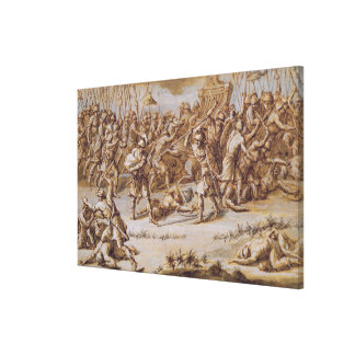 Illustration to 'The Iliad', 1760s (pen & ink, was Stretched Canvas Print