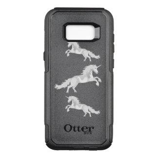 Illustration White Unicorn OtterBox Commuter Samsung Galaxy S8+ Case