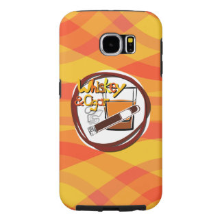 Illustration Wiskey and Cigar Samsung Galaxy S6 Cases