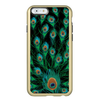 Illustration With Peacock Feathers on Black Incipio Feather® Shine iPhone 6 Case