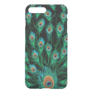 Illustration With Peacock Feathers on Black iPhone 8 Plus/7 Plus Case