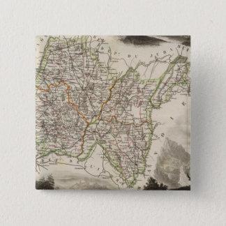 Illustrations, landscapes 15 cm square badge