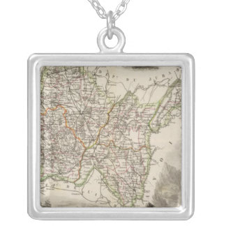 Illustrations, landscapes silver plated necklace