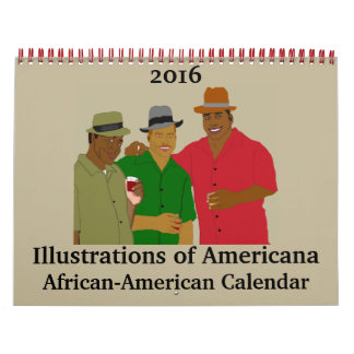 Illustrations of Americana African-American Wall Calendar