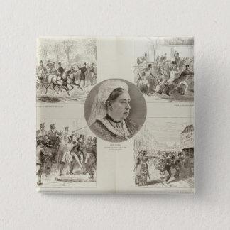 Illustrations of Attacks on Queen Victoria 15 Cm Square Badge