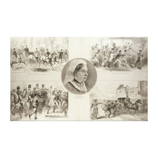 Illustrations of Attacks on Queen Victoria Canvas Print