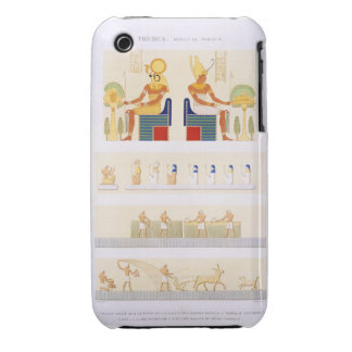 Illustrations of painted boards and murals from th iPhone 3 case