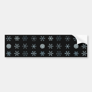 Illustrations of Snowflakes (black) Bumper Sticker