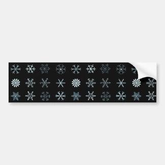 Illustrations of Snowflakes Bumper Sticker