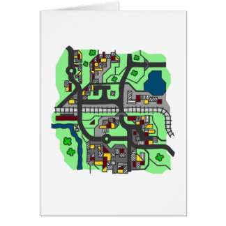 Illustrative Town Map Card