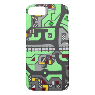 Illustrative Town Map iPhone 7 Case