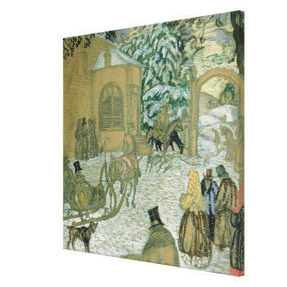 Illustraton for 'Dubrovsky', by Alexander Pushkin Canvas Print