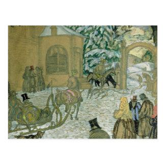 Illustraton for 'Dubrovsky', by Alexander Pushkin Postcard