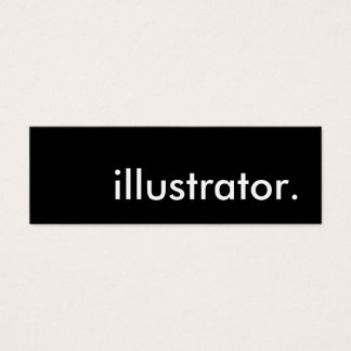 illustrator. mini business card