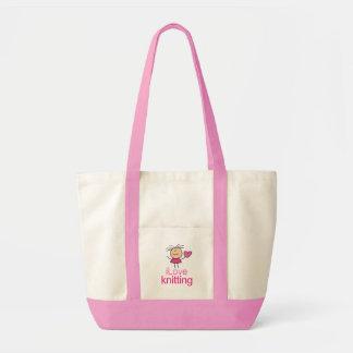 iLove Knitting Gift Canvas Bag