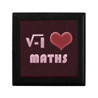 ILOVE MATHS - RED MODEL SMALL SQUARE GIFT BOX
