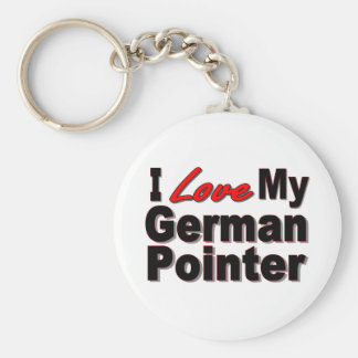 ILove My German Pointer Keychain