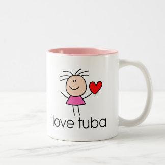 iLove Tuba Gift Two-Tone Mug