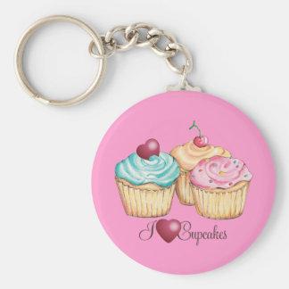ILoveCupcakes Basic Round Button Key Ring