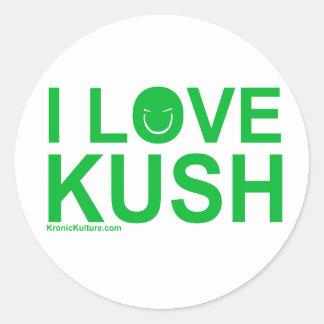 ILoveKush Round Sticker