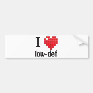 ILovelowdef Bumper Sticker