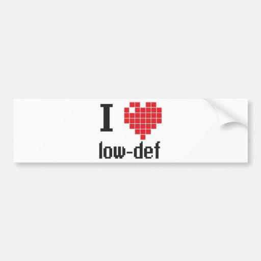 ILovelowdef Bumper Sticker