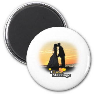 ILoveMarriage Vows 6 Cm Round Magnet