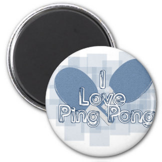 ILovePingPong Faded Blue Paddles Refrigerator Magnet