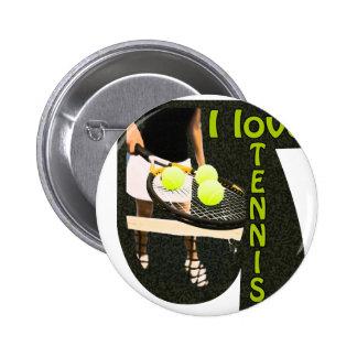 ILoveTennis Backhand Pinback Button