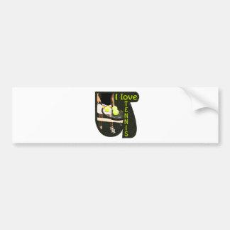 ILoveTennis Backhand Car Bumper Sticker