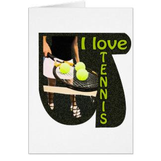 ILoveTennis Backhand Greeting Card