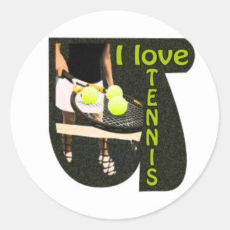ILoveTennis Backhand Round Stickers