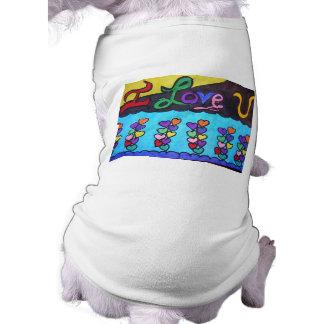 ILoveYou Sleeveless Dog Shirt