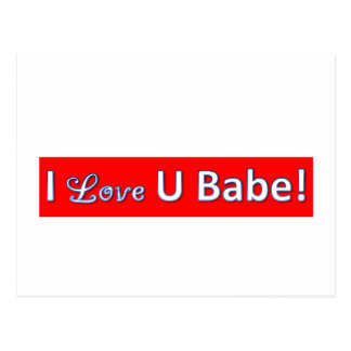 iloveyoubabe postcard