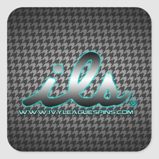 ils houndstooth metal stickers