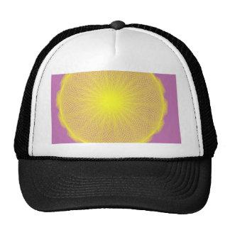 iluminating yellow sun mesh hats
