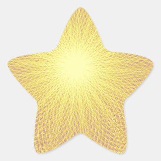 iluminating yellow sun star sticker
