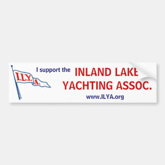 ILYA Burgee support bumper sticker