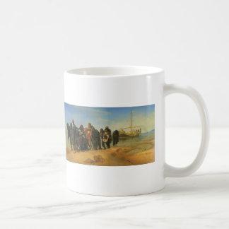 Ilya Repin- Barge Haulers on the Volga Basic White Mug