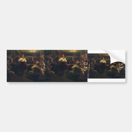 Ilya Repin- Evening party Bumper Sticker