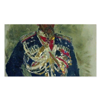 Ilya Repin- General in the form of royal guards Pack Of Standard Business Cards