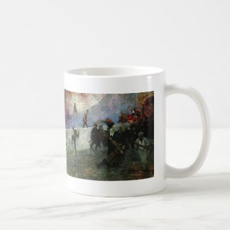 Ilya Repin- In the besieged Moscow in 1812 Basic White Mug