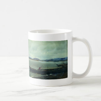 Ilya Repin- Landscape of the Volga with boats Basic White Mug