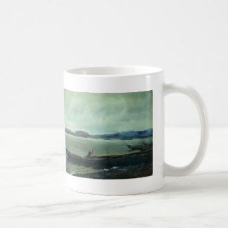 Ilya Repin- Landscape of the Volga with boats Coffee Mugs
