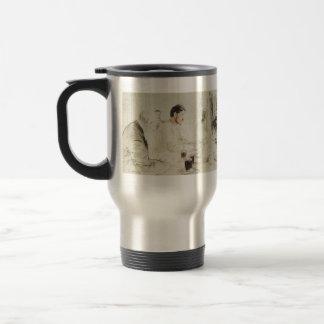 Ilya Repin: Maxim Gorky reading in The Penates 15 Oz Stainless Steel Travel Mug