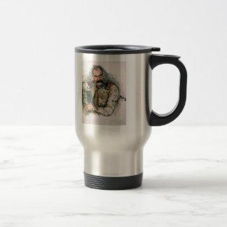 Ilya Repin- Portrait of A. Gallen Kallela Stainless Steel Travel Mug