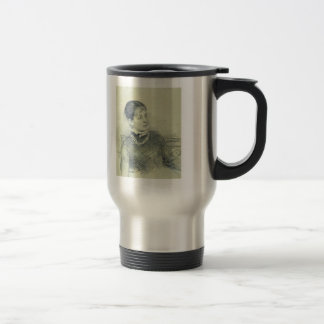 Ilya Repin- Portrait of a young wife, sitting Stainless Steel Travel Mug