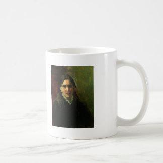 Ilya Repin- Portrait of Actress Pelagey Strepetova Classic White Coffee Mug